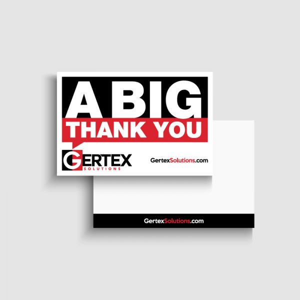 Gertex Thank You Card