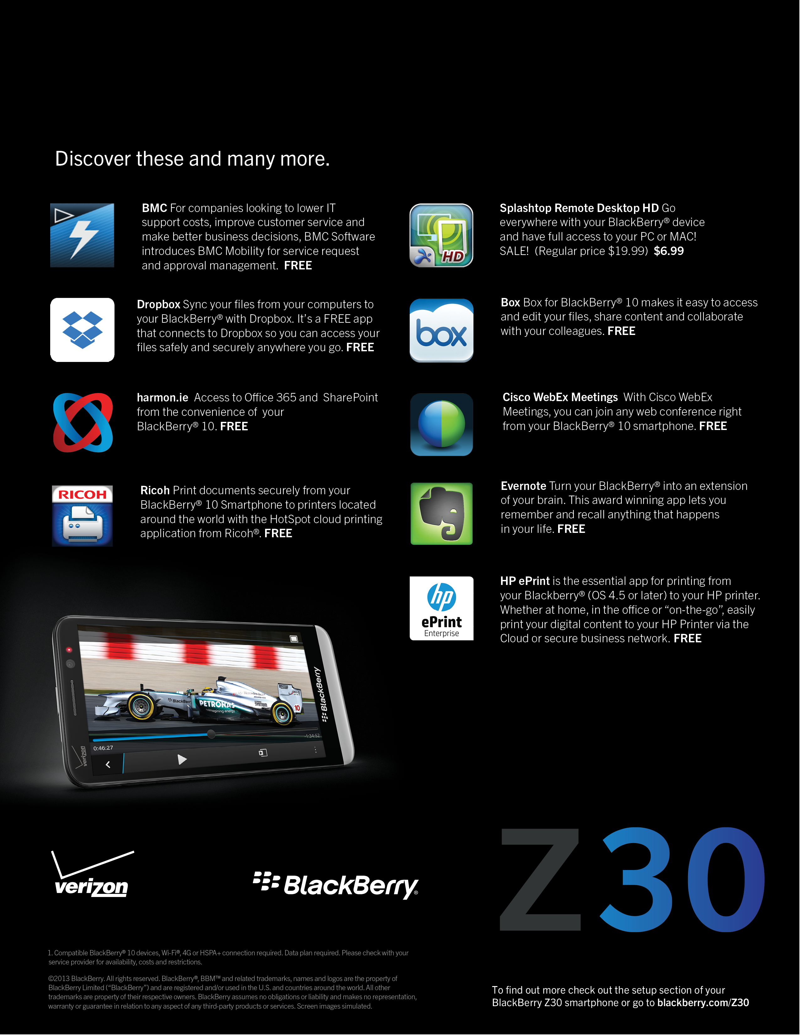 Blackberry z30 launch kits mayk agency z30 app card reheart Image collections