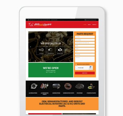Arts Auto website