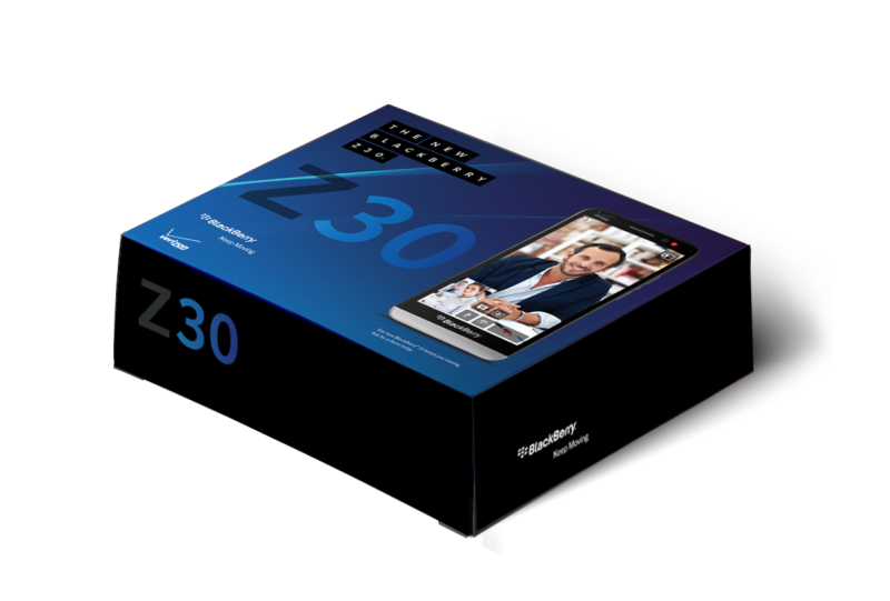 Blackberry Z30 box