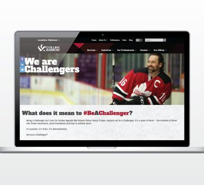 Be A Challenger website