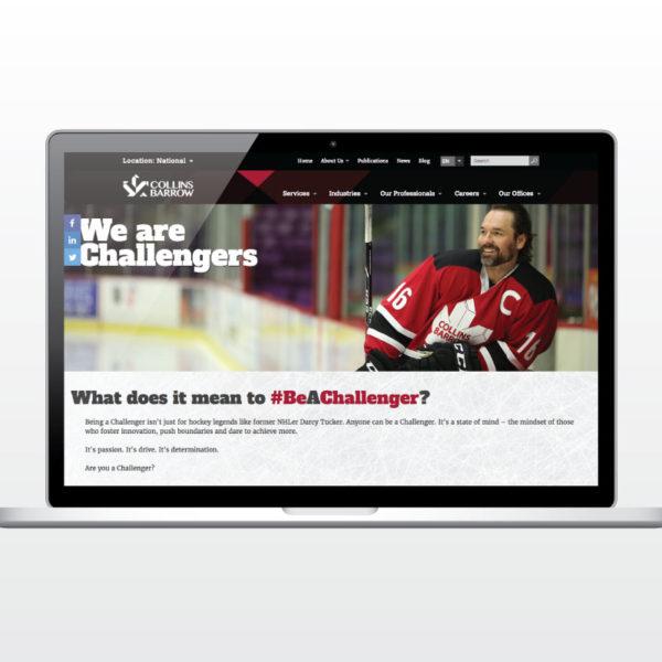 Be A Challenger website