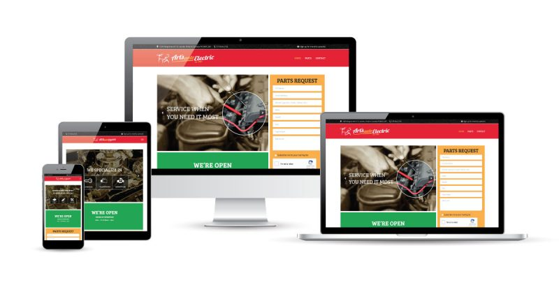 Arts Auto responsive website