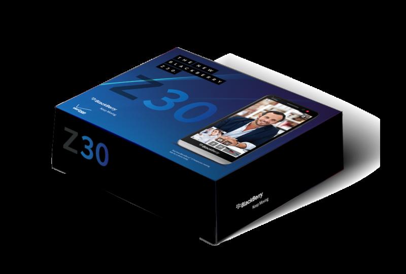 Blackberry Z30 box